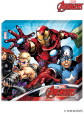 20 Avengers Assemble Theme Paper Party Napkins